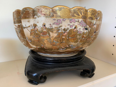 Antique Gilt Figural Bowl