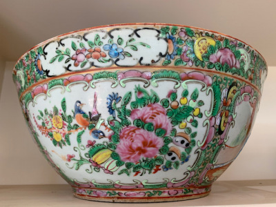 "Old Chinese Bowl ""Rose Medallion"""