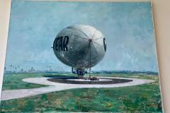 """Oil by Roger Kuntz """"the Goodyear Blimp"""""""