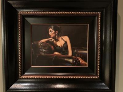 "original acrylic painting ""Study of Lucy"" by Fabian Perez"
