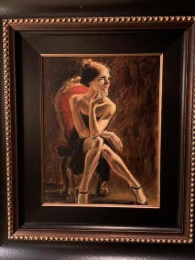 "original acrylic painting ""Tess III"" by Fabian Perez"