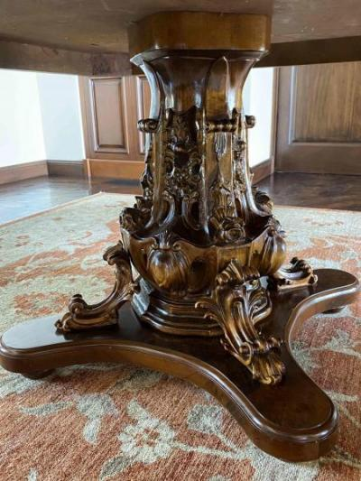 Dining Table Carved Pedestal