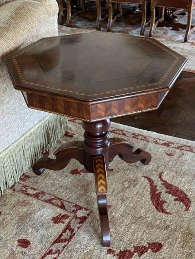 Inlaid Octagonal Table by Ebanista