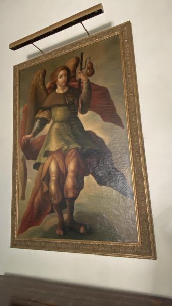 St. Raphael Angel painting, Ebanista