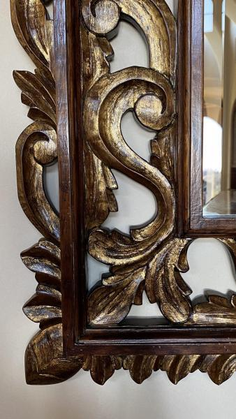 Carved Giltwood Mirror (detail)
