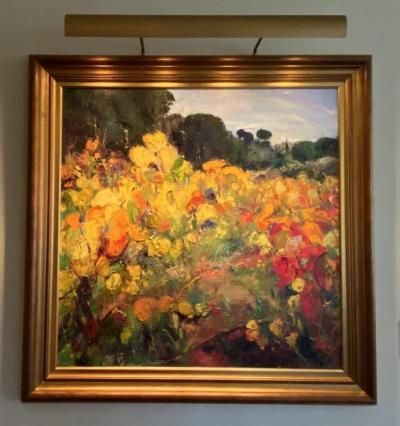 """""""Flowers"""" original oil painting by Ramon Vilanova"""