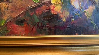 """Flowers"" by Ramon Vilanova (detail)"