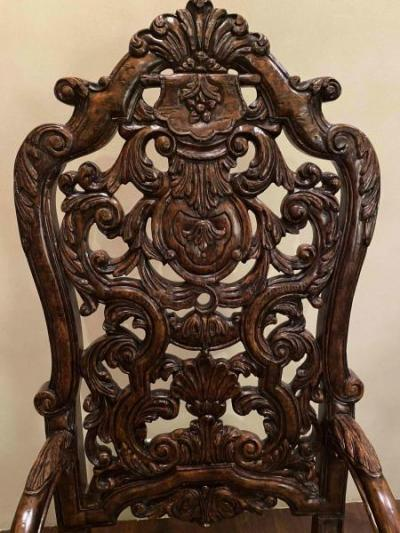 Donatello carved wood chairs (detail)