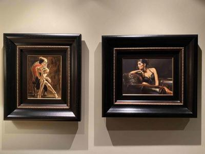 Two original paintings by Fabian Perez