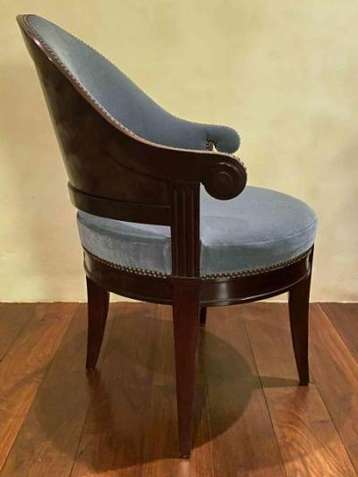 mohair upholstered chairs (side)