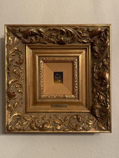 Original miniature painting by Dalhart Windberg