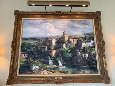 Original oil painting of Mediterranean countryside by Jose Vives-Atsara