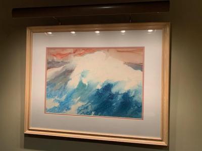 Original watercolor, Ocean Wave