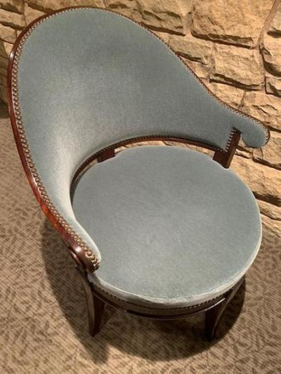 mohair upholstered chairs (detail)