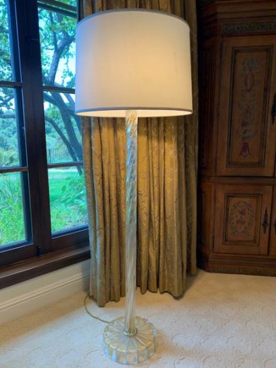 Murano Lamp with Gold Flecks