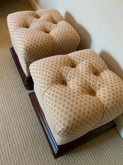 Pair of cube ottomans